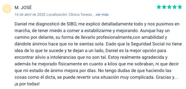 Opinión SIBO Daniel Mantas